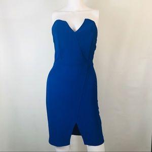 Lulus Blue Cocktail Strapless Dress
